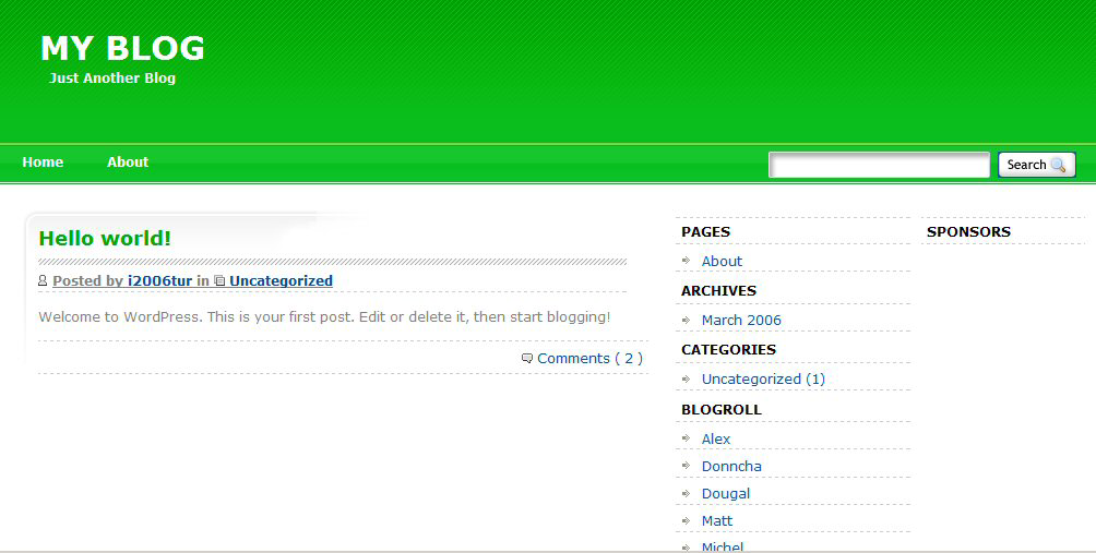 so green wordpress theme